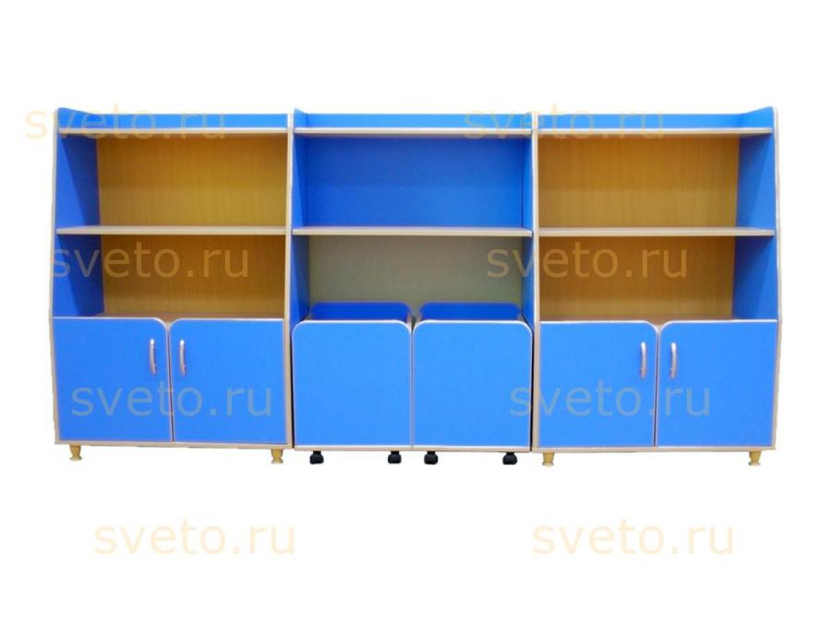 Комплект шкафов для игрушек и пособий «Василек-3»