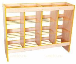 Шкаф-стеллаж для горшков на 16 мест