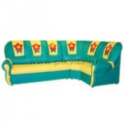 «Вита с аппликацией» комплект детской мягкой угловой мебели (3+1+1)