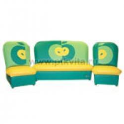 «Радуга» комплект детской мягкой мебели