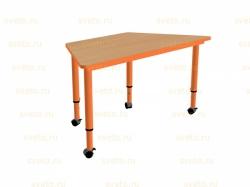 Стол - трапеция, (регулируемый) на колесиках