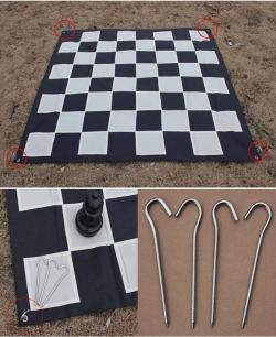 Поле шахматное нейлон 280 см