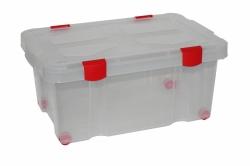 Емкость №51 для хранения на колесиках с крышкой, 620х430х270, 45 литров
